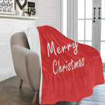 Red Merry Christmas Blanket 60x80