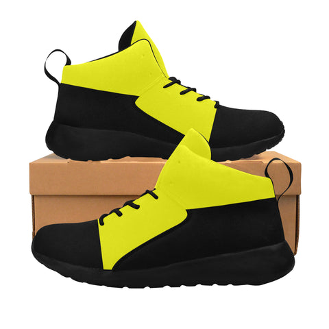 Yellow and Black Women Basketball Sneakers