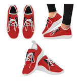 Women's red running shoes