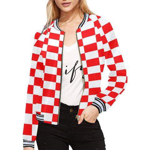 Red and White Checkerboard Jacket