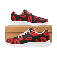 Women kisses breathable sneakers