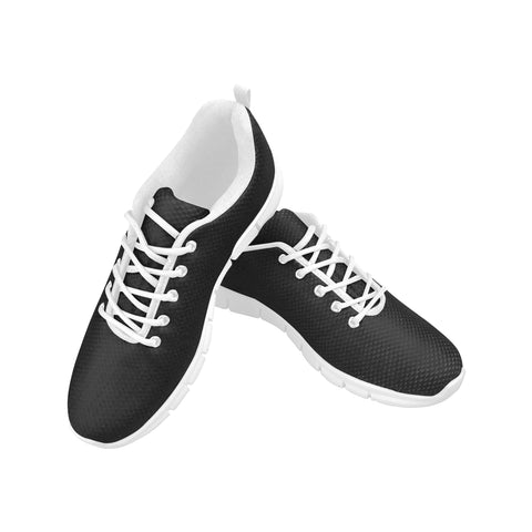 Women's black breathable mesh sneakers