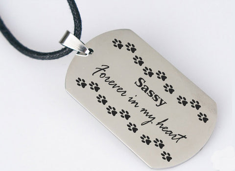 Pet memorial necklace