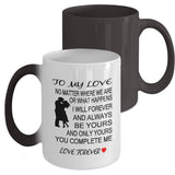 To My Love Color Changing Coffee Mug