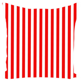 Red and White Striped Outdoor Pillows