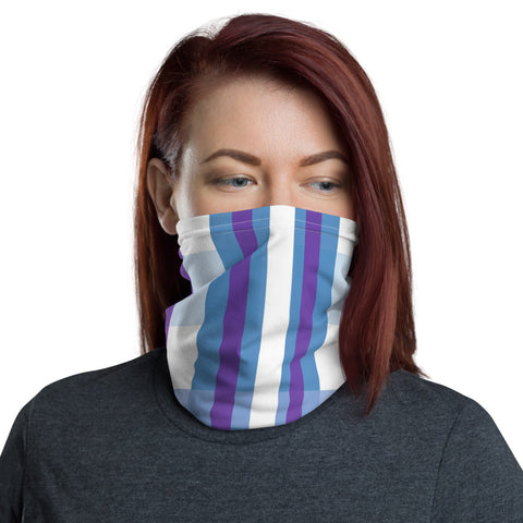 Blue And Purple Neck Gaiter