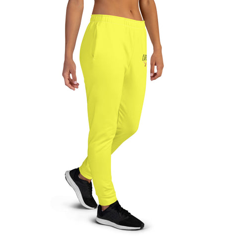 Yellow jogging pants