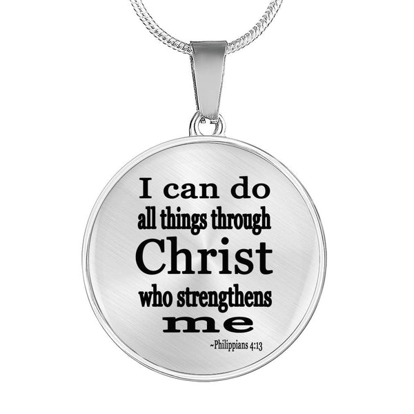 I can do all things through Christ necklace, religous necklace