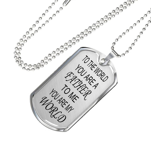 You are a father military necklace, gifts for father