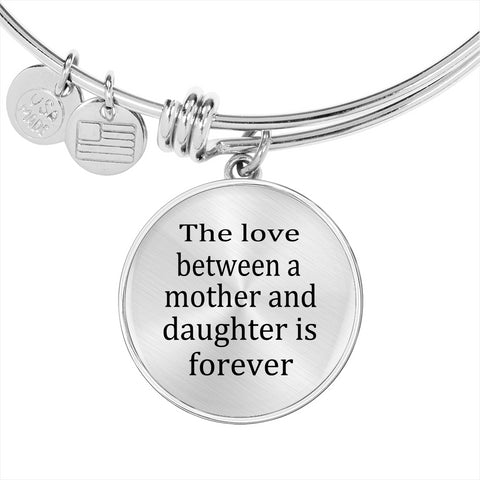 The love between mother and daughter bracelet
