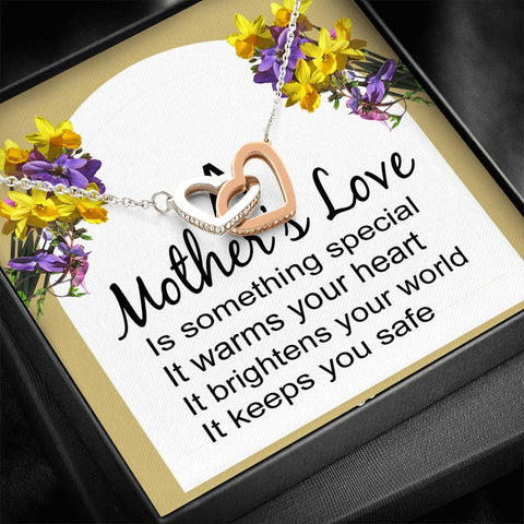 A Mother's love necklace with message card