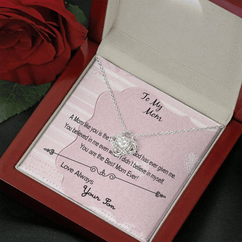 A Mom Like You Cubic Zirconia Knot Necklace