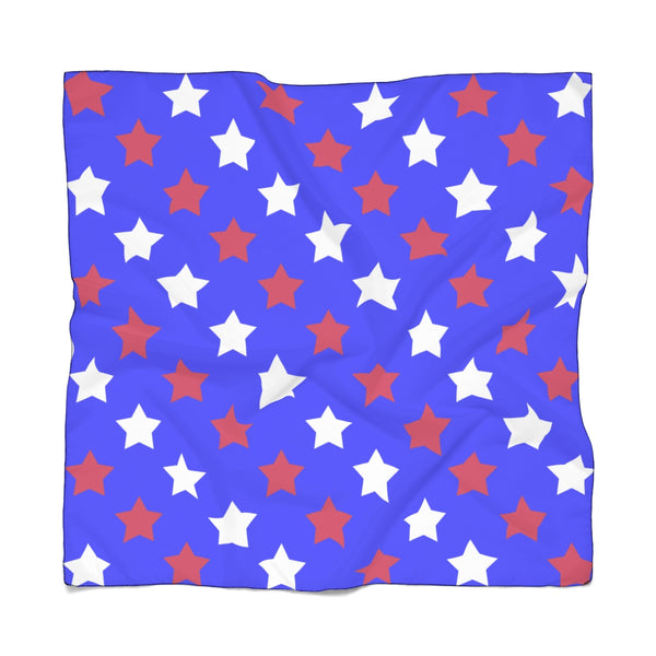 Red white and blue poly scarf