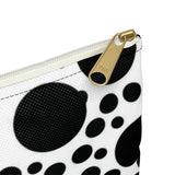 Black and White Polka Dot Makeup Pouch