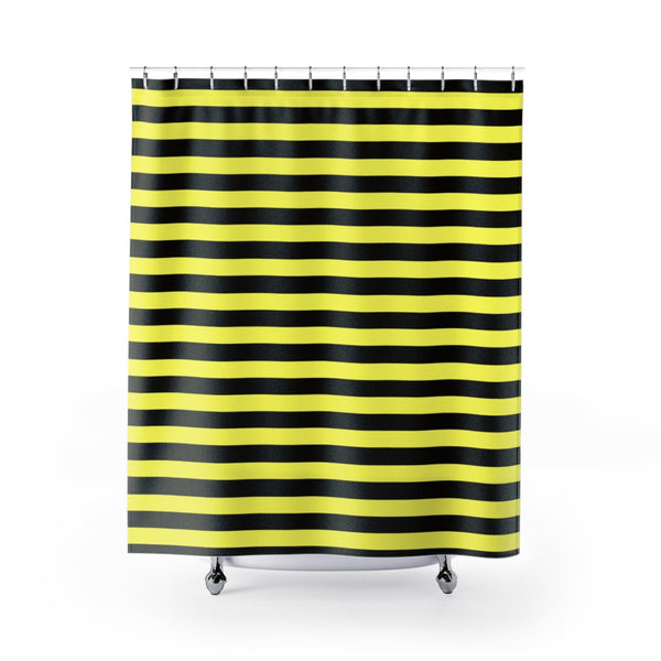 Black and yellow shower curtains 71x74 inches