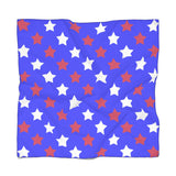 Red Blue And White Poly Scarf