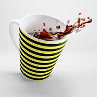 Black and yellow latte mug