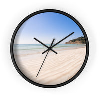 Sand and beach wall clock