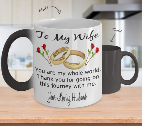 To My Wife Changing Color Coffee Mug