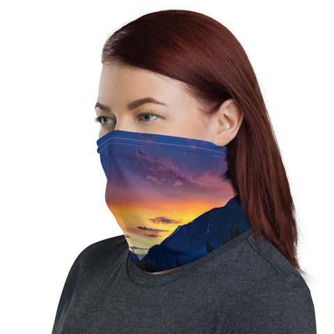 National park design face mask neck gaiter