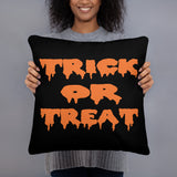 Trick or treat throw pillow