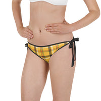 Yellow plaid bikini bottom