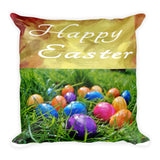 Happy Easter Egg Accent Pillow