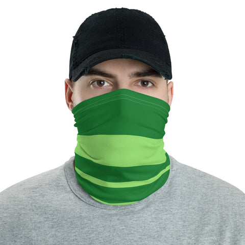Green striped face mask