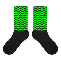 Green chevron socks