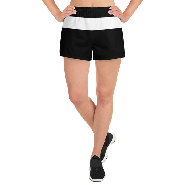 Black and white women's athletic shorts