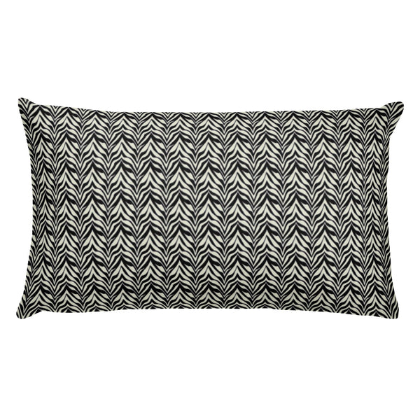 Zebra print decorative accent throw pillow