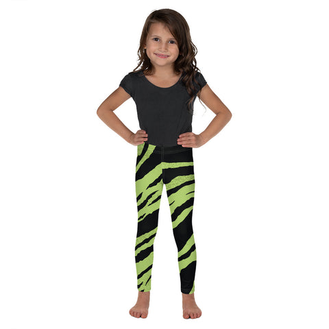 Green and black tiger leggings