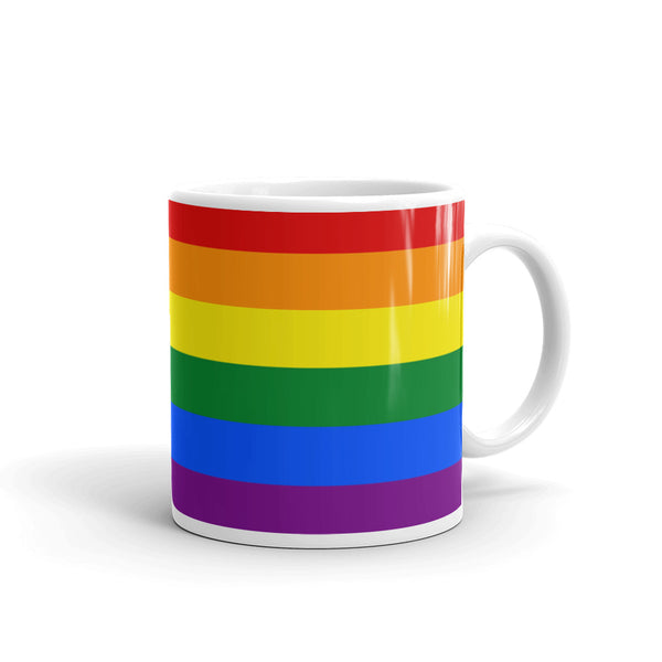 LGBTQ pride rainbow coffee mug