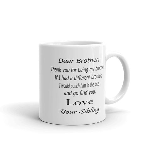 Gifts for brother, punch in the face coffee mug
