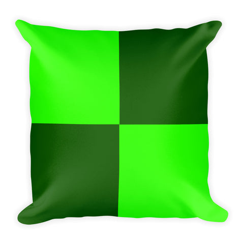 Green 18x18 inch square throw pillow