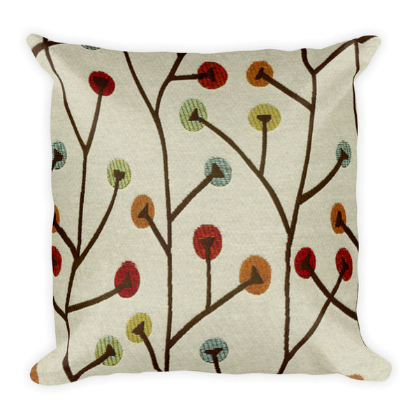 Multi-color stick 18x18 inch Square decorative throw pillow