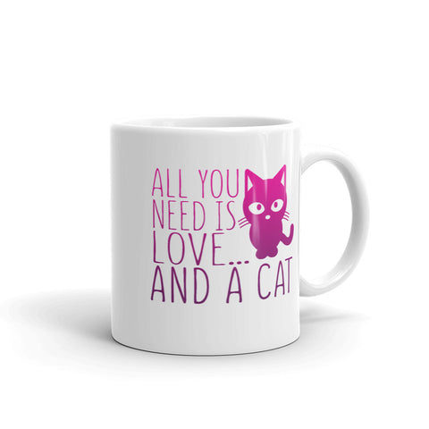 All You Need is Love & a Cat Coffee Mug