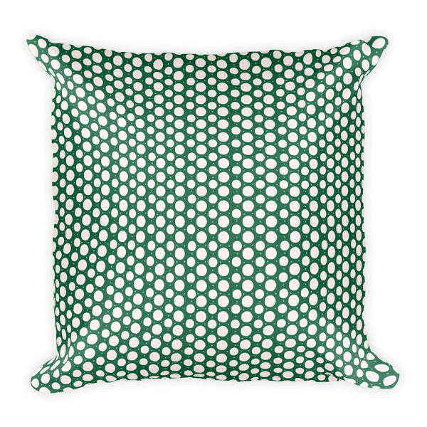 Green abstract throw pillows