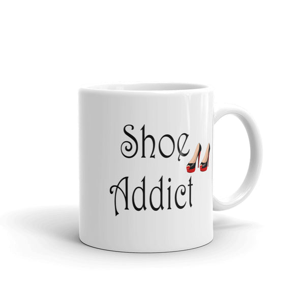 Shoe addict coffee mug 11oz and 15oz ceramic cups