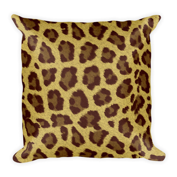 Leopard 18x18 inch square pillow