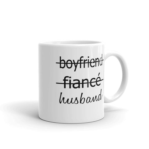 Boyfriend, fiance, husband coffee mugs, couples gifts