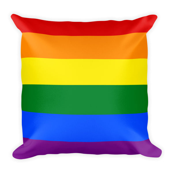 LGBTQ pride square 18x18 inch throw pillow