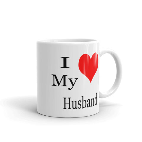 I heart love my husband coffee mug