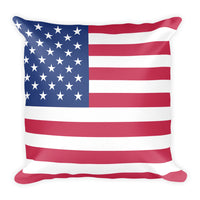 American flag square throw pillow