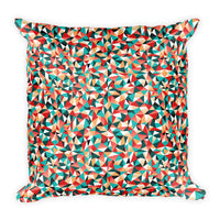 Kaleidoscope 18x18 inch square throw pillow