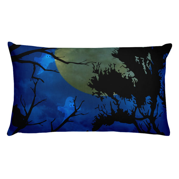 Blue halloween pillow