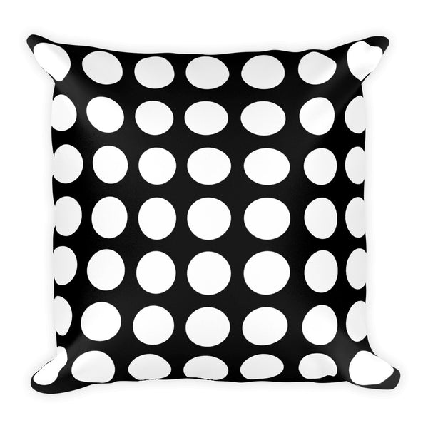 Black and white square polka dot decorative accent throw pillow