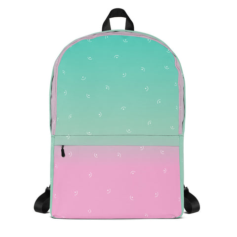 Blue and Pink Backpack