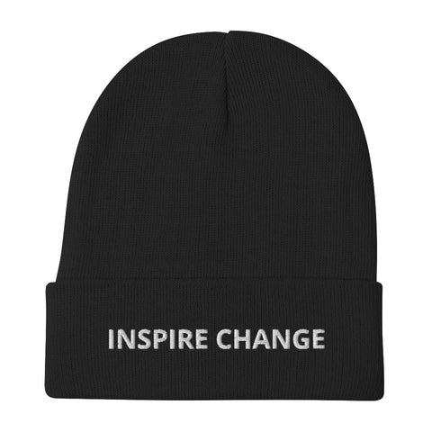 Inspire Change Embroidered Beanie
