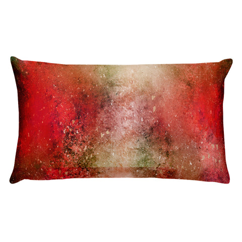 Red accent throw pillow